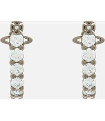 vivienne westwood women's kassie earrings - ruthenium white