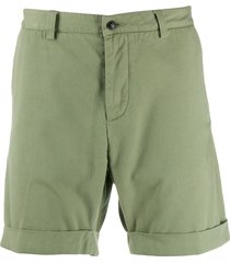 ami paris men bermuda shorts - green
