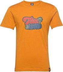 hike tee t-shirts short-sleeved orange bula