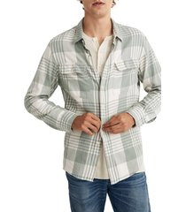 men's madewell dolefield plaid flannel long sleeve work shirt