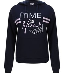 buzo con capota time is you color azul, talla s