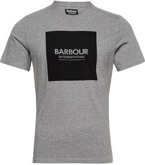 b.intl block tee t-shirts short-sleeved grå barbour