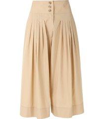 nk flare midi shorts - neutrals