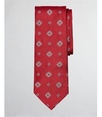 corbata spaced medallion rojo brooks brothers