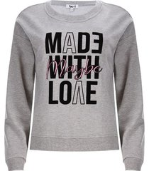 buzo mujer maybe color gris, talla s