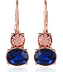 t tahari mixed gems lever back earring