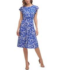 jessica howard floral-print a-line dress