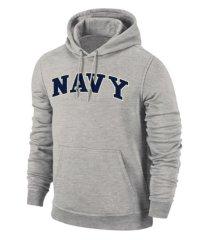 retro brand navy midshipmen men's arch screenprint hooded sweatshirt
