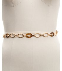 inc faux tortoise shell link chain belt, created for macy's
