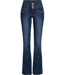 jeans bootcut a vita alta (blu) - rainbow