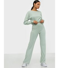 nly trend puff rib set jumpsuits pistage