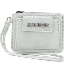jacquemus le porte olive wallet - blue