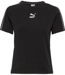 classics tight top t-shirts & tops short-sleeved svart puma