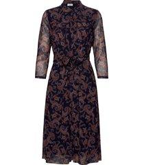 dress knitted fabric knälång klänning blå gerry weber
