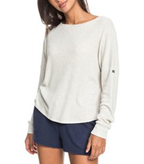 roxy juniors' holiday everyday ribbed top