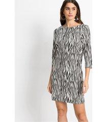 jersey jurk met luipaardprint