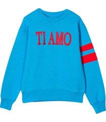 alberta ferretti turquoise teen sweatshirt