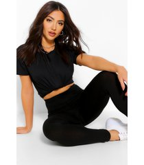 oversized boxy t-shirt & legging co-ord, black