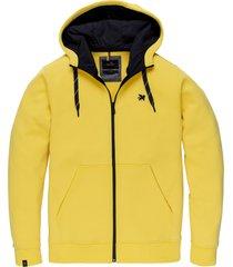 vanguard vsw205200 1070 hooded jacket full zip hooded sweater yellow