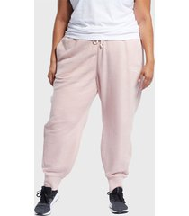 pantalón de buzo reebok te textured logo pant rosa - calce regular