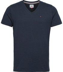 tjm original jersey v neck tee t-shirts short-sleeved blå tommy jeans