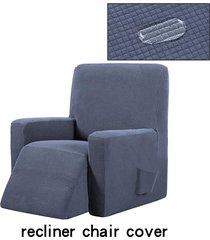 silla reclinable resistente al agua ala muebles sofá salón funda protector de la cubierta - gris oscuro