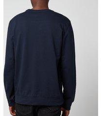 emporio armani men's iconic terry crew neck sweatshirt - blue - l