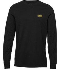 b.intl l/s logo tee t-shirts long-sleeved svart barbour