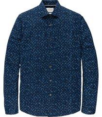 cast iron csi205604 5118 long sleeve shirt print on poplin stretch blue