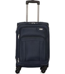 maleta de viaje pequeña en lona con cuatro ruedas giratorias 97091