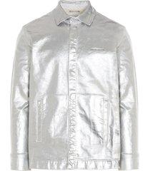 1017 alyx 9sm foil denim shirt overshirt