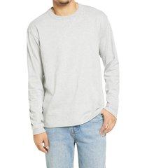 bp. long sleeve crewneck t-shirt, size small - grey