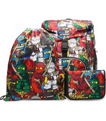 outbag deluxe set accessories bags backpacks multi/patroon lego bags