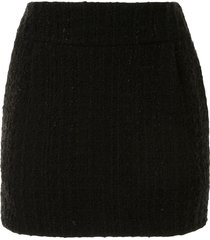 alexandre vauthier tweed mini skirt - black