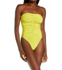 norma kamali marissa slinky one-piece swimsuit, size x-large in spring green at nordstrom