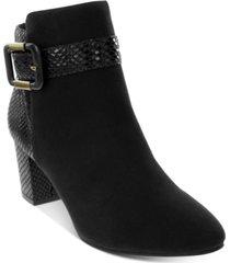 karen scott ivyy mixed-media booties, created for macy's women's shoes