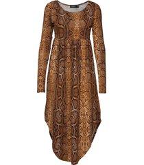 sl kaa dress ls knälång klänning brun soaked in luxury