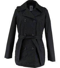casaco tã©rmico feminino trench coat broadway - preto - feminino - algodã£o - dafiti
