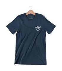 camiseta arimlap hang loose azul marinho