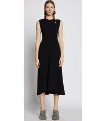 proenza schouler crepe seamed dress black 10