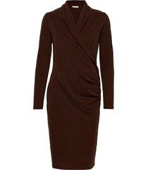 catjaiw dress jurk knielengte bruin inwear