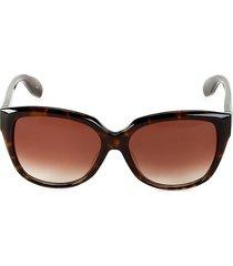 alexander mcqueen women's 57mm cat eye sunglasses - havana