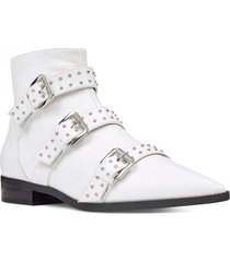 botin cuero seraphim blanco nine west