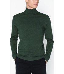 selected homme slhtower cot/silk roll neck b tröjor spruce