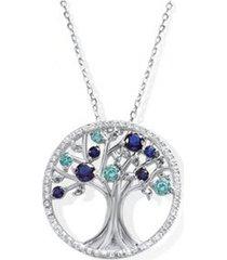 collar arbol de la vida casual azul celeste arany joyas