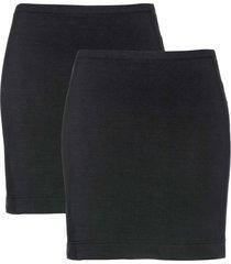 gonna in jersey elasticizzato (pacco da 2) (nero) - bpc bonprix collection