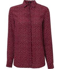 camisa le lis blanc luciana seda estampado poá feminina (poá print petrus, 50)