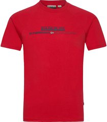 sastia t-shirts short-sleeved röd napapijri