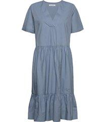 onlkarla s/s midi dress wvn knälång klänning blå only