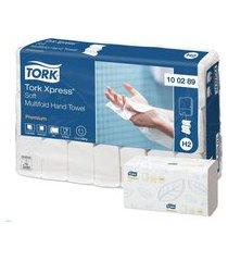 papel toalha interfolhada 3 dobras tork premium - 21 pacotes com 150 folhas
